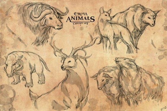 enrosia_animals__concept_art_1_by_mytherea-d3ap7v8