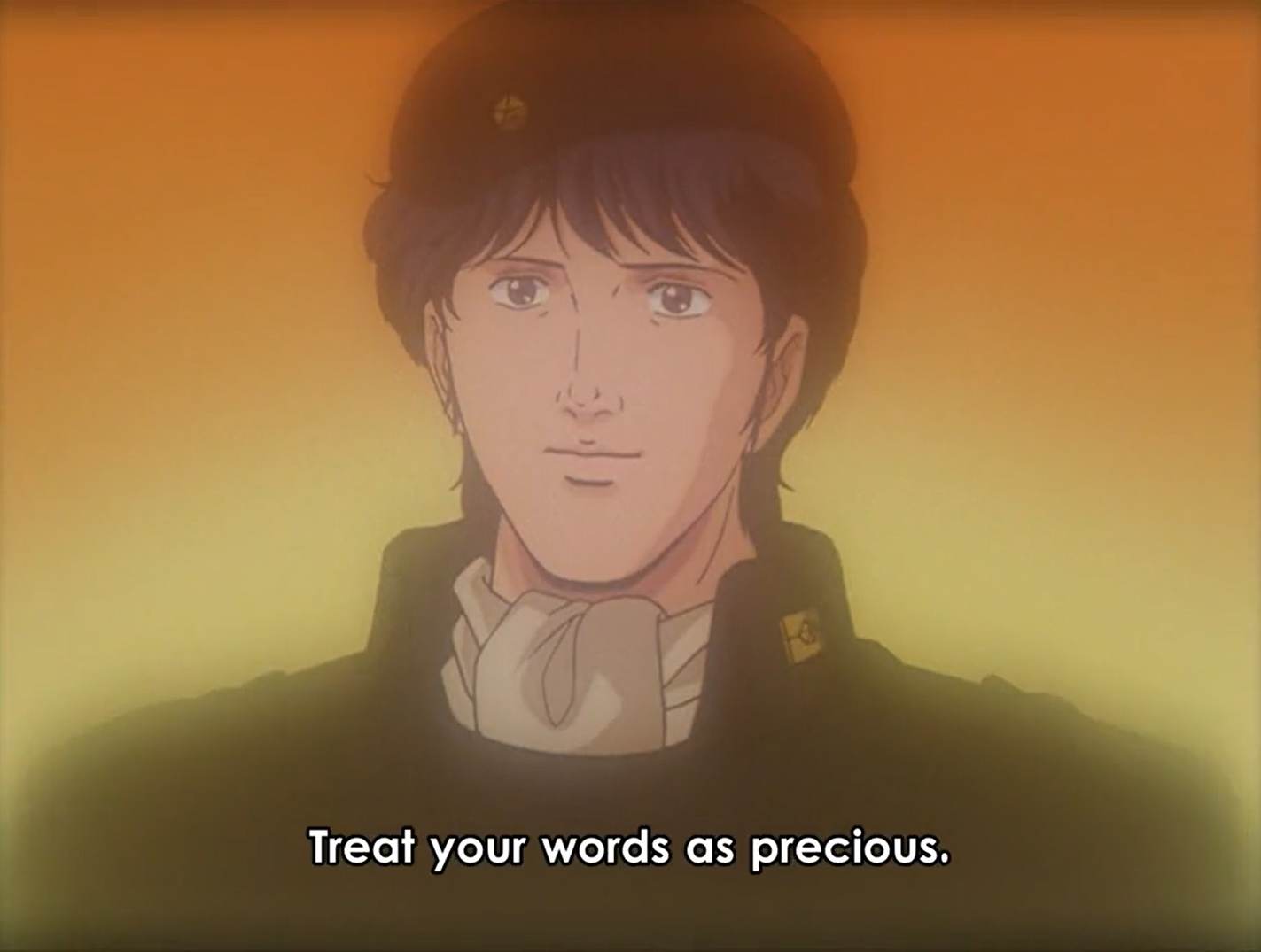 Yang Wen-Li from Legend of the Galactic Heroes - treat your words as precious