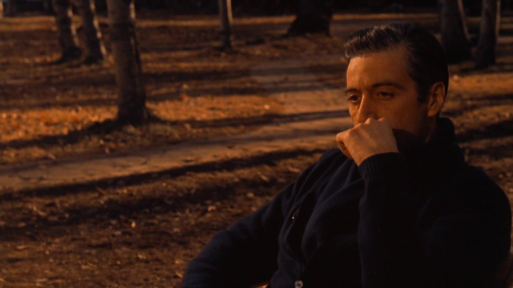 Michael Corleone thinking about his entire life at the end of Godfather II